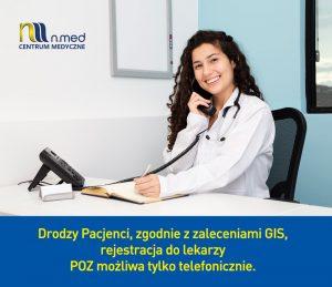 Rejestracja tylko telefoniczna - Centrum Medyczne NMED